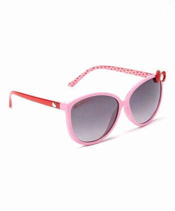 Hello Kitty Pink Hello Kitty Horn-Rim Sunglasses