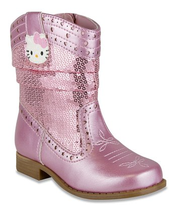 Pink Hello Kitty Nancy Cowboy Boot