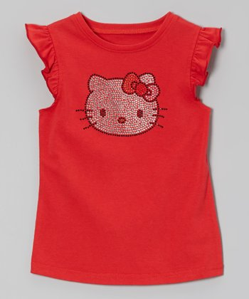 Red Hello Kitty Angel-Sleeve Tee - Toddler & Girls