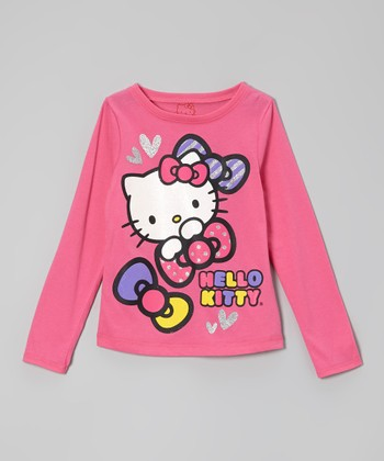 Carmine Rose 'Hello Kitty' Glitter Tee - Toddler & Girls
