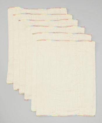 Medium Rainbow Prefold - Set of Six