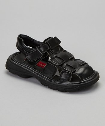 Black Closed-Toe Sandal