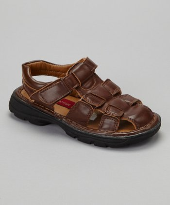 Tan Closed-Toe Sandal