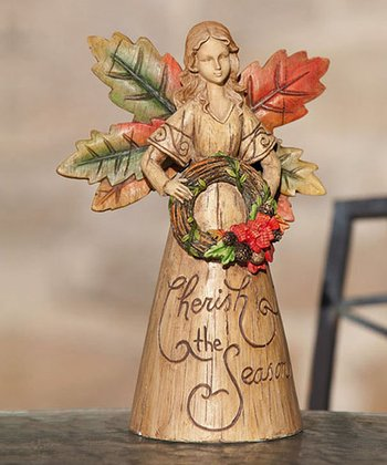 'Cherish the Season' 9'' Angel Statuary