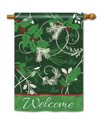 Christmas Scrolls Garden Flag