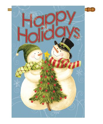 Two Group Flag Co. 'Happy Holidays' Tree Flag