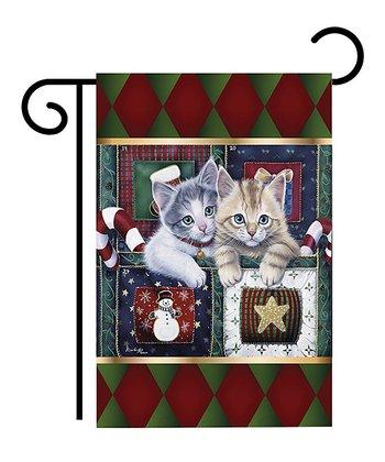 Two Group Flag Co. Christmas Kittens Flag