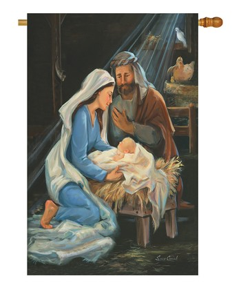 Two Group Flag Co. Nativity Flag