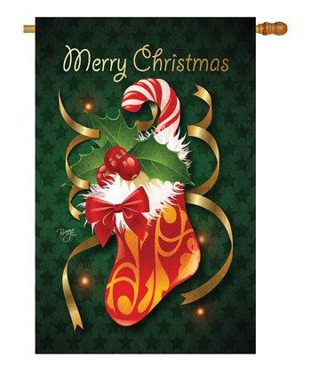 Two Group Flag Co. Christmas Stocking Flag