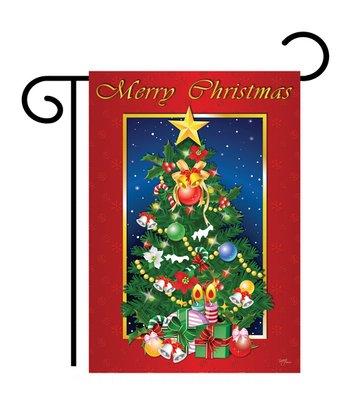 Two Group Flag Co. 'Merry Christmas' Tree Flag