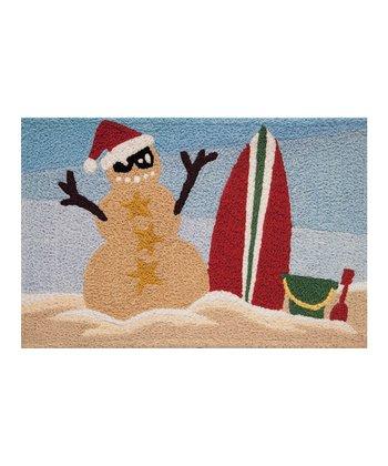 Sandy Snowman Indoor/Outdoor Rug