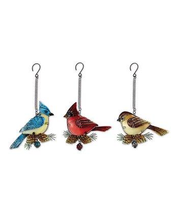 Bird Bouncy Ornament Set
