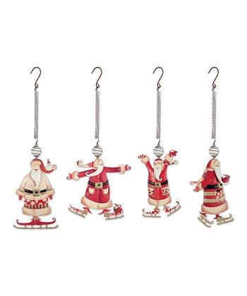 Santa Bouncy Ornament Set