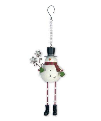 Jolly Snowman Bouncy Ornament