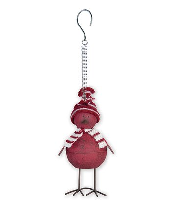 Red Birdy Bouncy Ornament