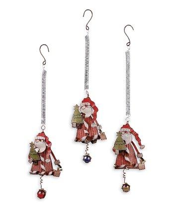 Christmas Standing Santa Bouncy Ornament Set