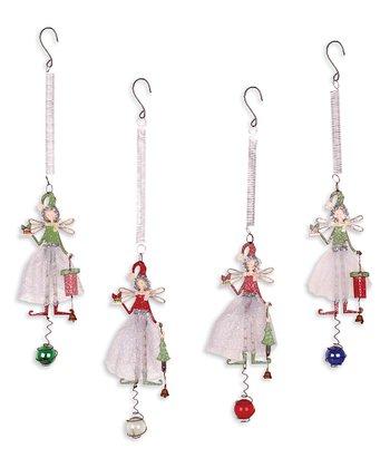 Christmas Fairy Bouncy Ornament Set