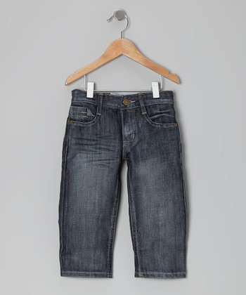 Off-Navy Brush Jeans - Toddler & Boys