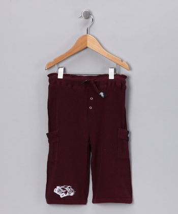 Burgundy Thermal Cropped Pants - Infant, Toddler & Boys