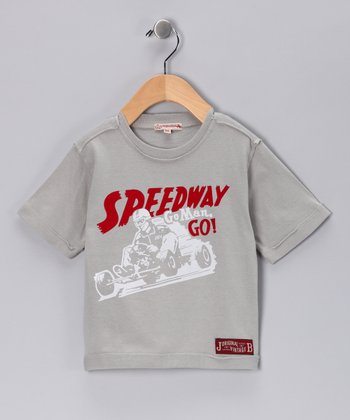 JB Original Vintage Gray 'Speedway' Tee - Infant, Toddler & Boys