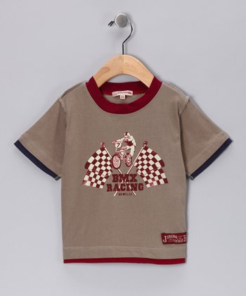 JB Original Vintage Taupe 'BMX' Tee - Infant, Toddler & Boys