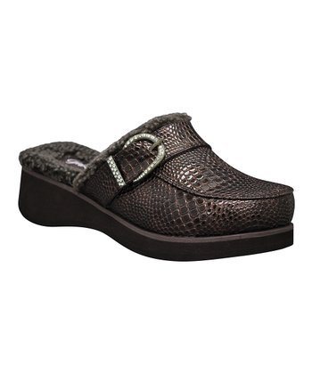 Brown Darla Lizard Clog
