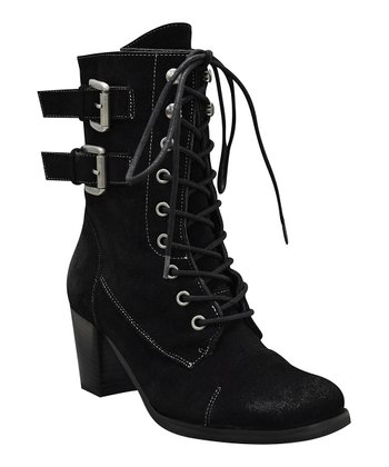 Black Norma Lace-Up Boot