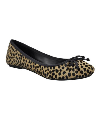 Tan Cheetah Miriam Flat