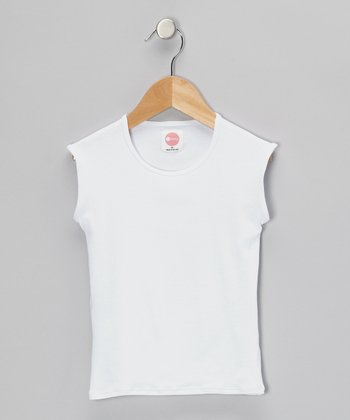 White Sleeveless Tee - Infant