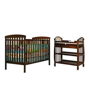 AFG Baby Espresso Leila Crib & Changing Table