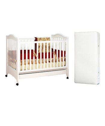 White Jeanie Convertible Crib & Mattress