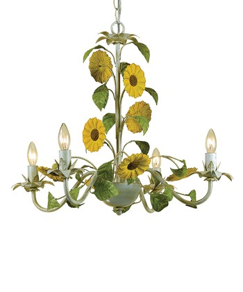 Cream Kansas Sunflowers Chandelier