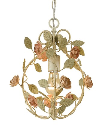 Cream Ramblin' Rose Chandelier