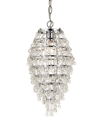 Chrome & Crystal Teardrop Chandelier