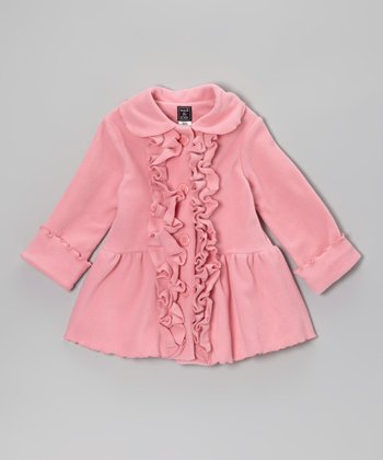 Rose Pink Ruffle Coat - Infant, Toddler & Girls