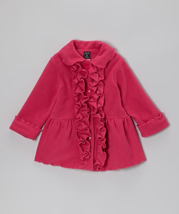 Hot Pink Ruffle Coat - Infant, Toddler & Girls