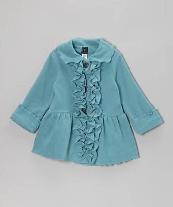 Patina Blue Ruffle Coat - Infant, Toddler & Girls