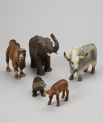 Exotic Wild Animal Figurine Set