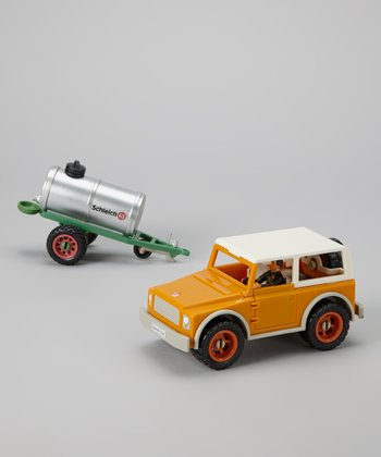 Farm Vehicle & Driver Figurine Set