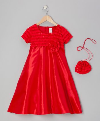 Red Tango A-Line Dress Set - Toddler & Girls