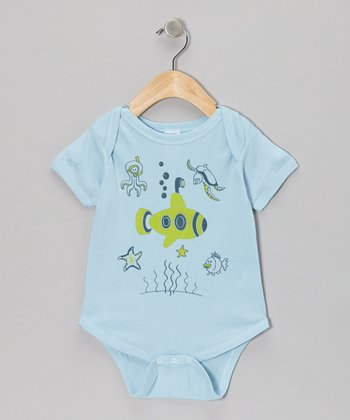 Light Blue Submarine Bodysuit - Infant