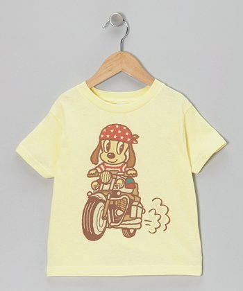 Yellow Motorcycle Tee - Toddler & Boys