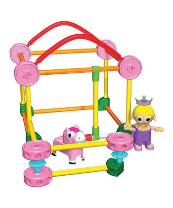 Pink Tinkertoy Building Set