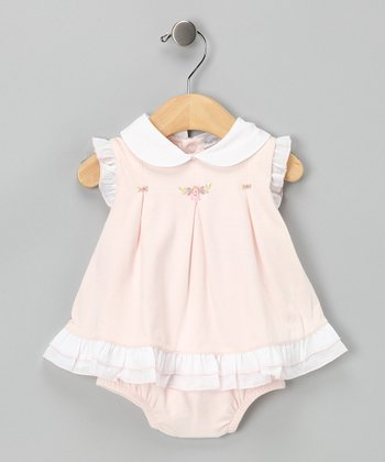 Pink Claudia Ruffle Dress & Diaper Cover - Infant