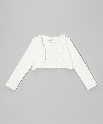 Ivory Ruffle Shrug - Infant & Girls