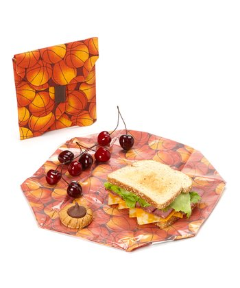 Basketballs Wrap & Pouch Set