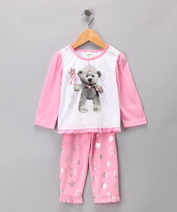 Pink Bear Pajama Set - Infant
