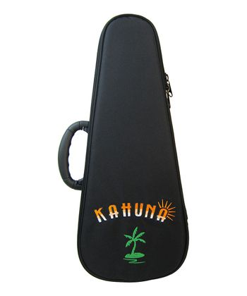 Black 'Kahuna' Soprano Ukulele Embroidered Bag
