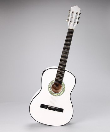 White 38'' Acoustic-Electric Guitar