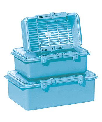 Blue Snap 'n' Seal Three-Piece Container Set